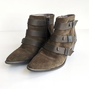 Sam Edelman Circus Harley Booties in Olive Green